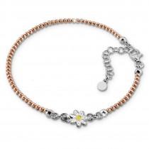 SilberDream Armband Blume rose 925 Sterling Silber Damen 18cm - 21cm SDA1118E