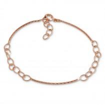 SilberDream Armband Ringe 925 Silber rosévergoldet Damen 18cm - 21cm SDA1188E