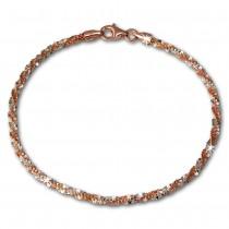 SilberDream Bicolor Armband gedreht Rose vergoldet 925 Silber Damen SDA2039E