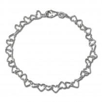 SilberDream Armband Herzchen 925 Sterling Silber Damen 19cm SDA2119J