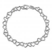 SilberDream Armband Herzen 925 Sterling Silber Damen 19cm SDA2529J