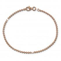 SilberDream Damen Armband Kugel 19cm rosevergoldet 925 Sterling Silber SDA2549E