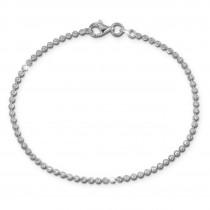SilberDream Damen Armband Kugel diamantiert 19cm 925 Sterling Silber SDA2549J