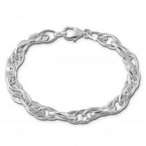 SilberDream Armband Fantasie verschlungen 925er Silber Damenarmband SDA2559J