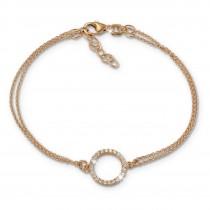 SilberDream Armband rund Zirkonia Rose 17cm - 19cm 925er Silber Damen SDA2587E
