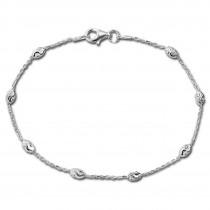 SilberDream Armband -Typhoon- 925 Silber poliert diamantiert ca. 19cm SDA3019J