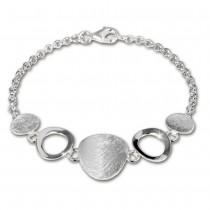 SilberDream Armband aus matten Elementen 925 Silber 18,5cm SDA400