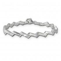 SilberDream Armband Zick-Zack 925er Silber 19cm Silberarmband SDA440J