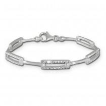 SilberDream Armband diamantiert 925 Silber 19cm Silberarmband SDA442J