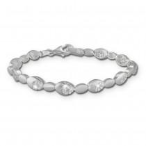 SilberDream Armband Oval Zirkonia weiß 925er Silber 18,8cm Damen SDA444W
