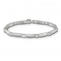 SilberDream Armband matt Zirkonia weiß 925er Silber 18,8cm Damen SDA447W