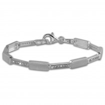 SilberDream Armband Square Zirkonia weiß 925er Silber 18,8cm Damen SDA454W