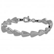 SilberDream Armband Dreicke Zirkonia weiß 925er Silber 18,7cm Damen SDA457W