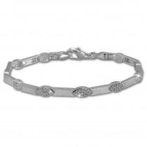 SilberDream Armband Eye Zirkonia weiß 925er Silber 18,5cm Damen SDA462W