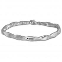 SilberDream Armband Zopf matt/glänzend 925 Sterling Silber 18,8cm SDA463J