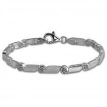 SilberDream Armband Fantasie Zirkonia weiß 925er Silber 19cm Damen SDA464W