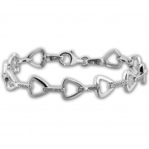 SilberDream Armband Dreicke Zirkonia weiß 925er Silber 18,7cm Damen SDA470W
