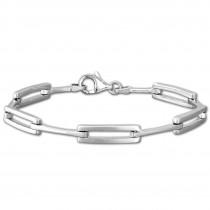 SilberDream Armband matt/glanz 925 Silber 18,8cm Silberarmband SDA473J