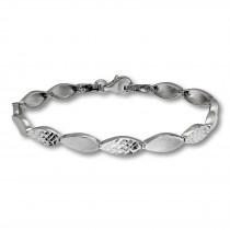 SilberDream Armband Tropfen 925 Silber cutt matt 19cm SDA4794O