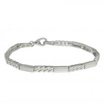 SilberDream Armband Rechteck 925 Silber glanz matt 19cm SDA4795M