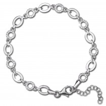 SilberDream Armband Circle 925 Silber poliert Zirkonia ca. 21,5cm SDA4797W