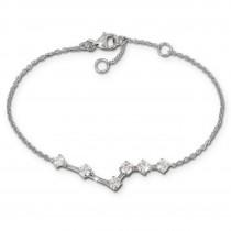 SilberDream Armband Zirkonia weiß 18,5cm - 21,5cm 925er Silber Damen SDA5308W