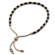 SilberDream Armband Perlen rose/schwarz 925er Sterling Silber Damen SDA7001E