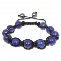 SilberDream Shamballa Armband Aventurin blau aus Stein Kugeln SDA918