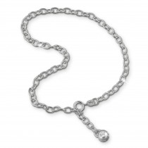 SilberDream 25cm Fußkette Zirkonia 925 Silber SDF001