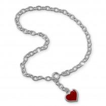 SilberDream 25cm Fußkette Herz 925 Silber SDF006