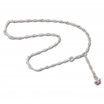 SilberDream 26cm Fußkette Schmetterling rosa 925er Silber SDF017A