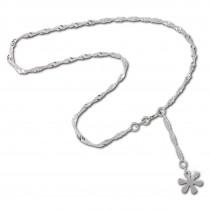 SilberDream 25,5cm Fußkette Blume 925er Silber SDF018I