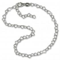 SilberDream Fußkette Herzchen 25cm 925er Silber SDF0275J