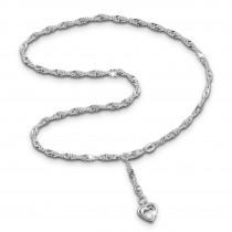 SilberDream Fußkette Herz 25cm Damenschmuck 925er Silber SDF0345J