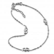 SilberDream Fußkette Liebes Herzen 26cm Damenschmuck 925er Silber SDF0363J