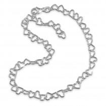 SilberDream Damen Fußkette Herzchen 25cm 925 Sterling Silber SDF2146J