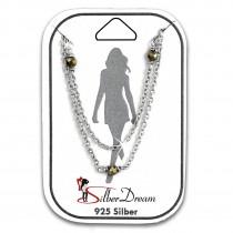 SilberDream Fußkette Pyrit Perlen geschliffen 25cm 925 Sterling Silber SDF5005K
