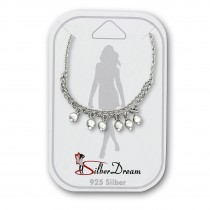 SilberDream Fußkette Dangle 25cm 925 Sterling Silber Damen SDF5195J