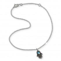 SilberDream Fußkette Indische Hand 25cm Damenschmuck 925er Silber SDF8002T