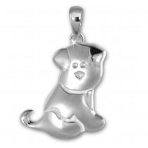 Teenie-Weenie Kettenanhänger Hündchen für Kinder 925er Silber SDH412J