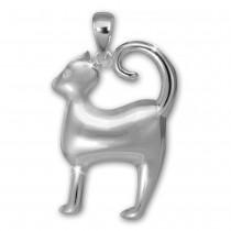 Teenie-Weenie Kettenanhänger Katze für Kinder 925er Silber SDH413J