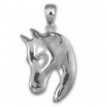 Teenie-Weenie Kettenanhänger Pferdekopf für Kinder 925er Silber SDH416J