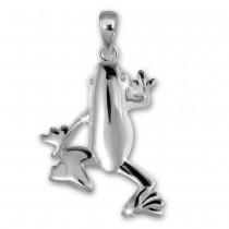 Teenie-Weenie Kettenanhänger Frosch für Kinder 925er Silber SDH419J