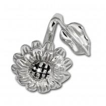 SilberDream Kettenanhänger Sonnenblume 925 Sterling Silber Damen SDH457J
