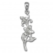 SilberDream Kettenanhänger Blume Jasmin 925 Silber Damen Anhänger SDH460J