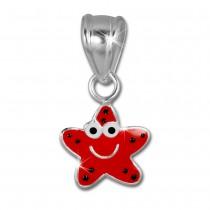 SilberDream Kettenanhänger Seestern rot für Kinder 925er Silber SDH8101R