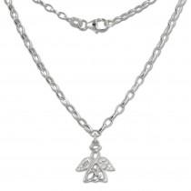 Teenie-Weenie Kinder-Kette Engel Zirkonia weiß 925 Silber SDK01638