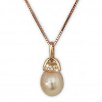SilberDream Halskette Süßwasser Perle rose vergoldet 925 Silber Damen SDK1519E