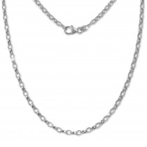 SilberDream Erbskette oval 925er Silber Halskette 45cm Kette SDK20945