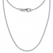 SilberDream Ankerkette fein 925er Silber Halskette 50cm Kette SDK21150